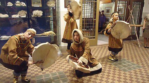 ニブフ民族の催し物Inユジノサハ...